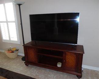 TV Console Cabinet, Cherry Finish