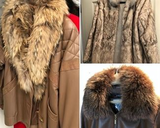 Fur Jackets, top & bottom right (SOLD)