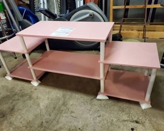 Pink Televsion Stand -3 Tier (Good Condition)