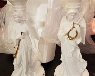 Lot of 2 Angels of Light Candlestick by Lenox