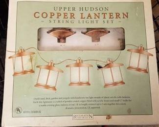Upper Hudson Copper Lantern String Light Set