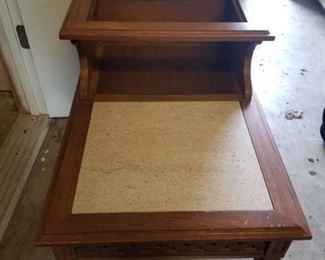 Wooden Side Table with Granite top, Missing top Granite