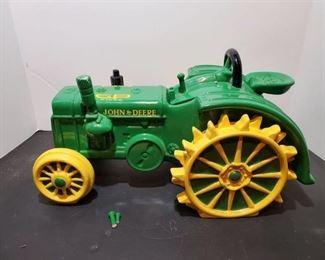 John Deere Tractor Cookie Jar -few broken pieces but can be repaired