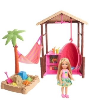 Barbie Chelsea Doll Tiki Hut Playset with Moldable Sand