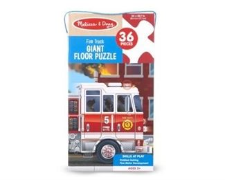 Melissa & Doug Fire Truck Giant Floor Puzzle, 36 Piece. BOX DAMAGE. ALL CONTENTS VERIFIED