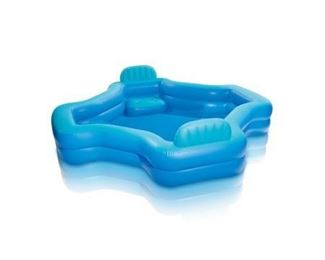 Intex Inflatable 2-Seat Swim Center Family Lounge Pool. box damage. items appear new