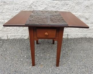 Drop Leaf Wooden Small Table w Drawer https://ctbids.com/#!/description/share/331147