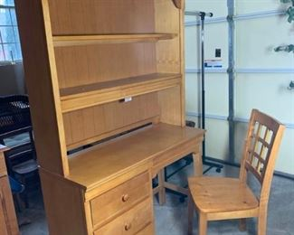 Student Desk With Shelving Unit and Chair https://ctbids.com/#!/description/share/331177
