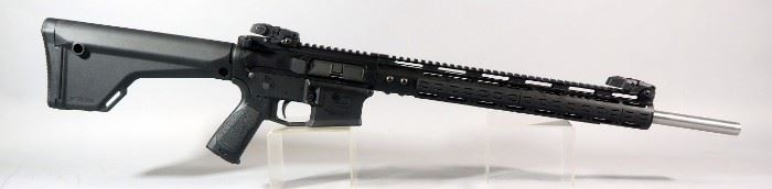 "Aero M4E1 .223 Cal Rifle SN# M4-0045618, Billet Upper, .223 Wylde/5.56 1:8 SS 20"" BBL, Flip Up Sights, Magpul Stock, Strike Industries Grip, New Mag, Sling Mounts, Ambidextrous Extended Charging Handle"
