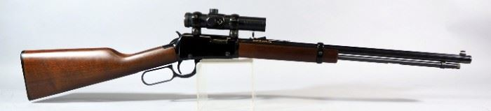 Henry Repeating Arms .22 SLLR Lever Action Rifle SN# T47696H, With Bushnell Trophy Red Dot Sight
