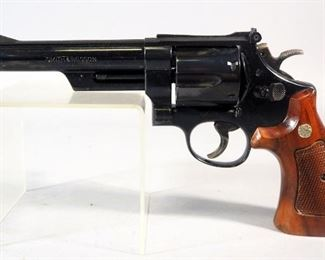 Smith & Wesson Model 29-3 .44 Magnum 6-Shot Revolver SN# ACH8453, With Smith & Wesson Leather Holster No. B17 26 And Speed Loader