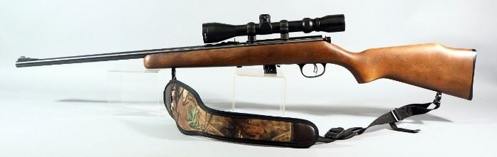 Marlin Model XT-22 .22 LR Bolt Action Rifle SN# MM37759D, With 3-9 x 40 Scope And Nylon Sling