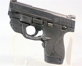 Smith & Wesson M&P 9 Shield 9mm Pistol SN# HNK0282, Crimson Trace Green Laser Dot