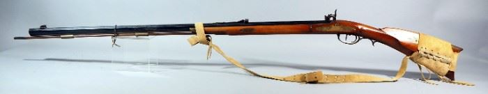 Replica Arms Plainsman .45 Cal Percussion Cap Black Powder Rifle SN# 989, With Leather Sling