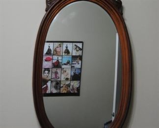 Walnut French Victorian Mirror. 24W x 46L. Very Good Condition!