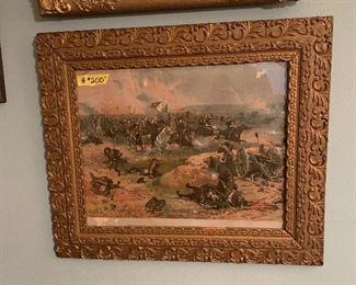 Framed civil war print