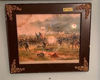 Another framed civil war print