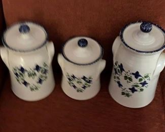 North Carolina pottery canister set