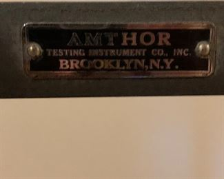Nameplate on Amthor scalr