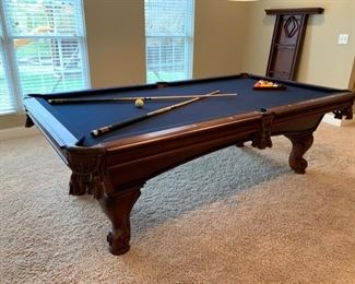 American Heritage Billiards Table includes pool balls and rack