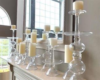 Pottery Barn Glass Pillar Holders