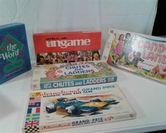 An Assortment of Vintage Board Games
