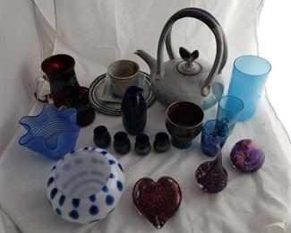 Art Deco Ceramics Glassware and Waterford Bowl