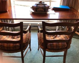 Bread board end table and French Country chairs