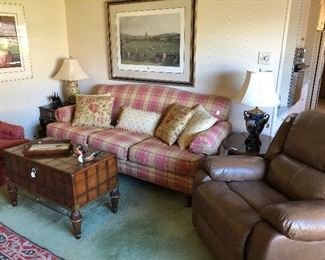 Beautiful den furniture and artwork