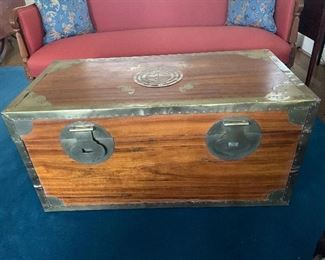 Asian Cedar Lined Chest with brass accents