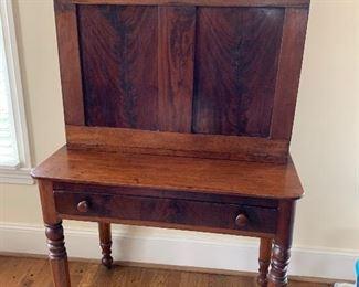 Antique Plantation Desk...Flame Mahogany...origin Charlotte, NC