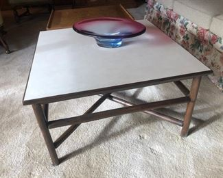 Coffee table (glass bowl sold)