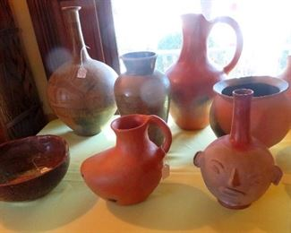 Unique variety of vessels from Oaxaca including  smoked pottery.