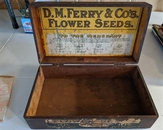 D.M. Ferry & Co. Flower Seeds Counter Box