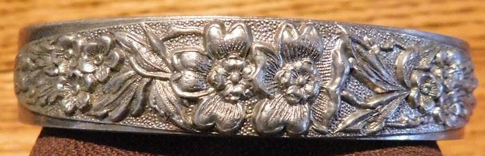 Art Nouveau Sterling Cuff Bracelet