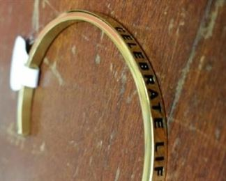 Mantraband, stainless steel dipped in 18k gold