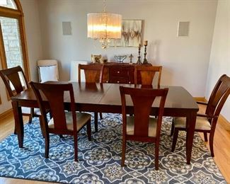 Gorgeous Dining Room Set - It's unbranded and is imported, but I have to say this is a very lovely, very sound, well-built set distributed by Legacy Furnishings and was purchased at Macy's Furniture Center.