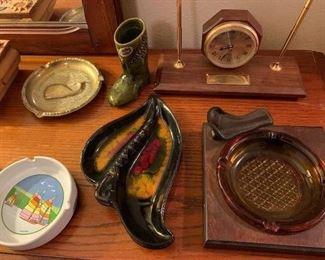 Vintage ash tray collection.