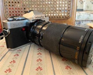 Minolta XG9 with Kiron 35-135 Mm macro focusing zoom lens