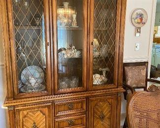 Vintage Stanley Furniture Hutch
