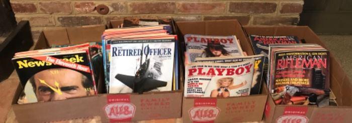 60-70-80 Newsweek, Retired Officer, Playboy, Rifleman, Kentucky Sportsmen and more magazines