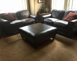 La-Z-Boy Leather Sofa Set