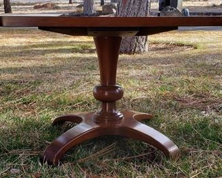 "1970's Mahogany  end tables one of two  21"" x 21"""