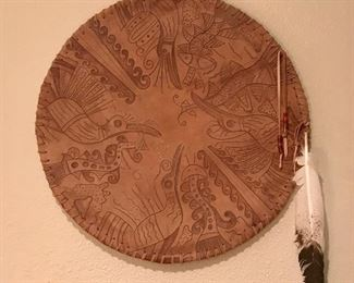 Alaskan Art on Leather