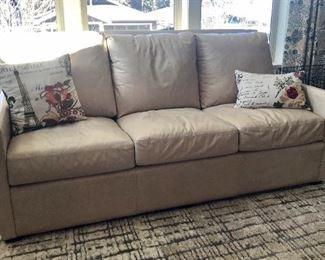 "Leather ""Palatial Furniture"" Sofa"