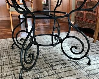 Metal Scroll Base to Ethan Allen Table