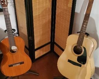 Guitars: Yamaha $60.00. Fender: $250. This one is a collection item.