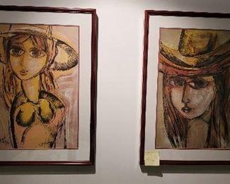 Multiple art from Enrique Alonso Daussat famous Cuban artis. Mxed media. Oil. Negotiable