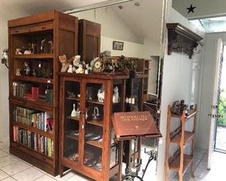 Antique roll top bookcase Antique cabinet