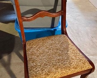 Nice carved back chair- $15